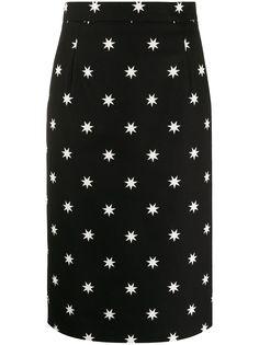 Nº21 юбка-карандаш с принтом