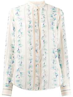 Forte Forte полосатая рубашка с цветочным принтом