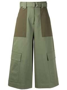 MSGM укороченные брюки широкого кроя с поясом