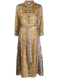 Pierre-Louis Mascia платье с поясом и принтом
