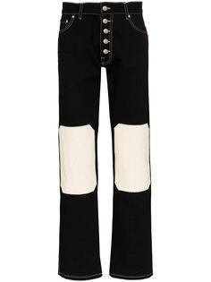 Linder джинсы прямого кроя с нашивками