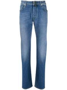 Jacob Cohen джинсы прямого кроя с эффектом потертости