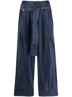 LIU JO укороченные брюки с завязками