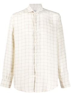 Eleventy клетчатая рубашка с длинными рукавами