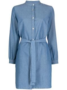 A.P.C. джинсовое платье с воротником-стойкой