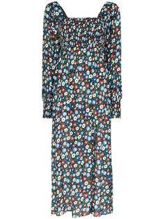 Rixo платье миди Marie с цветочным принтом
