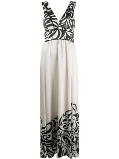 Pinko вечернее платье с контрастным принтом