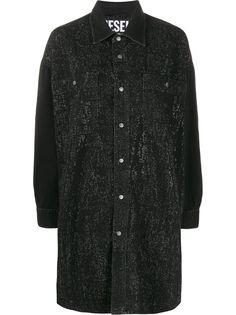 Diesel джинсовое платье-рубашка со стразами