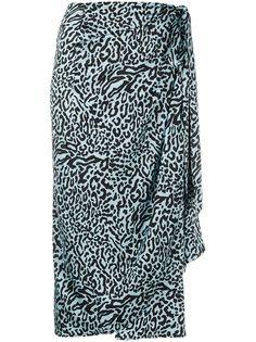 Andamane юбка миди с леопардовым принтом и драпировкой