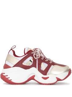 Emporio Armani массивные кроссовки со вставками