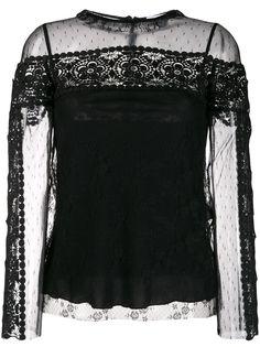 RedValentino блузка Point dEsprit из тюля