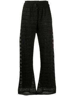 M Missoni брюки прямого кроя с завышенной талией