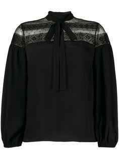 RedValentino блузка с кружевной вставкой