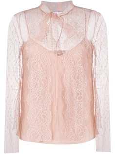RedValentino сетчатая блузка в горох