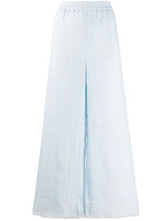 Fabiana Filippi брюки широкого кроя с бахромой