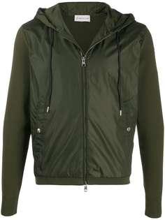 Moncler куртка на молнии со вставкой спереди
