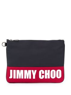 Jimmy Choo клатч Derek с логотипом