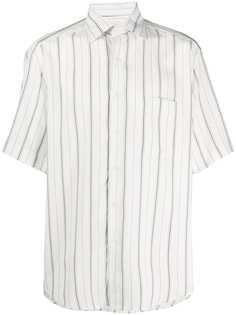 Sandro Paris полосатая рубашка с короткими рукавами