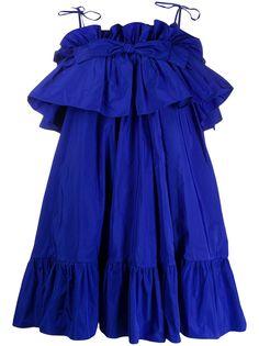 MSGM коктейльное платье с оборками