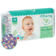 Offspring подгузники M (6-10 кг) 42 шт. космос