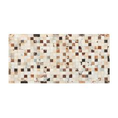 Коврик серый/бежевый Abc leather patchwork 120x60