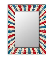 Зеркало настенное Дом Корлеоне Звезда 04-0063-75х140 75х140 см, уф печать