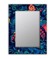 Зеркало настенное Дом Корлеоне Синяя Жар-птица 04-0094-75х110 75х110 см, уф печать