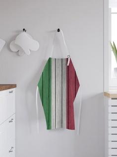 """Фартук """"Деревянные доски цвета Итальянского флага"""", универсальный размер Joy Arty"""