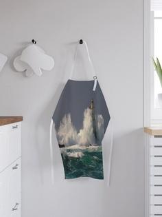"""Фартук кухонный регулируемый """"Волны против маяка"""", универсальный размер Joy Arty"""