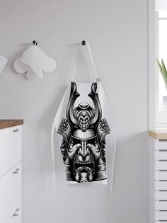 """Фартук кухонный регулируемый """"Грозная маска самурая"""", универсальный размер Joy Arty"""