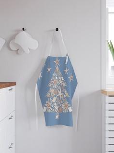 """Фартук кухонный регулируемый """"Звездная елка"""", универсальный размер Joy Arty"""