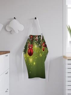 """Фартук кухонный регулируемый """"Искрящаяся новогодняя елка"""", универсальный размер Joy Arty"""
