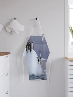 """Фартук кухонный регулируемый """"Пингвины развлекаются"""", универсальный размер Joy Arty"""