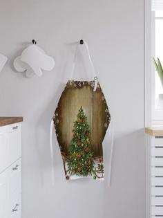 """Фартук кухонный регулируемый """"Нарядная елка"""", универсальный размер Joy Arty"""