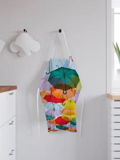 """Фартук кухонный регулируемый """"Небо из зонтиков"""", универсальный размер Joy Arty"""