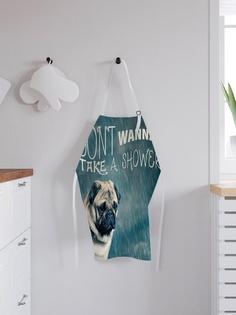 """Фартук кухонный регулируемый """"Не хочу принимать душ"""", универсальный размер Joy Arty"""