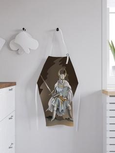 """Фартук кухонный регулируемый """"Рыцарь в рогатом шлеме"""", универсальный размер Joy Arty"""