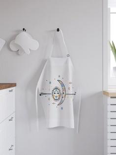 """Фартук кухонный регулируемый """"Солнце и луна на стреле"""", универсальный размер Joy Arty"""