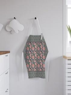 """Фартук кухонный регулируемый """"Розовые цветы"""", универсальный размер Joy Arty"""