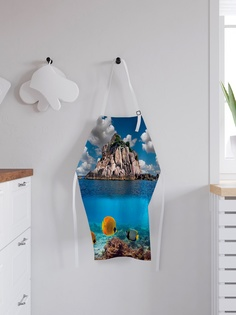 """Фартук кухонный регулируемый """"Скалистый остров"""", универсальный размер Joy Arty"""