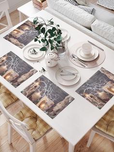 Комплект салфеток для сервировки стола «Новогодние свечи» (32х46 см, 4 шт.) Joy Arty