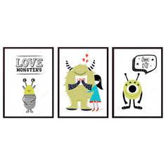 Набор постеров Коллаж Детский №108 30х90 см Дом Корлеоне