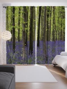 """Шторы с фотопечатью """"Лесные цветы"""" из сатена, 290х265 см Joy Arty"""