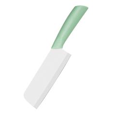KA-KNF-04 Нож-топорик керамический, белая керамика, цвет фисташковый, 27х1,5х5,5 см Kitchen Angel