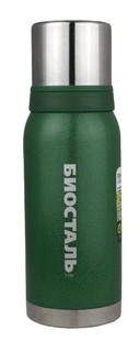 "1000NBА-G Термос ""Биосталь-ОХОТА"" 2 чашки, зеленый, 1 л Biostal"