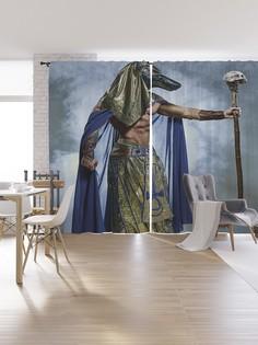 Шторы под лён «Египетский колдун», серия Oxford DeLux, 340х265 см Joy Arty
