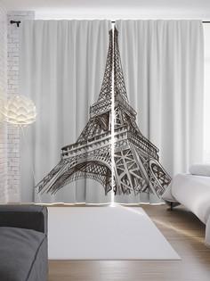 """Шторы с фотопечатью """"Парижские красоты"""" из сатена, 290х265 см Joy Arty"""