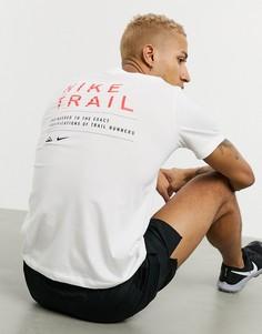 Белая футболка Nike Running-Белый