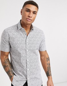 Рубашка с короткими рукавами и цветочным принтом Esprit-Белый