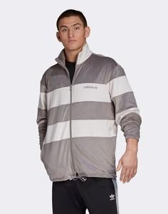 Серая велюровая олимпийка adidas Originals-Серый